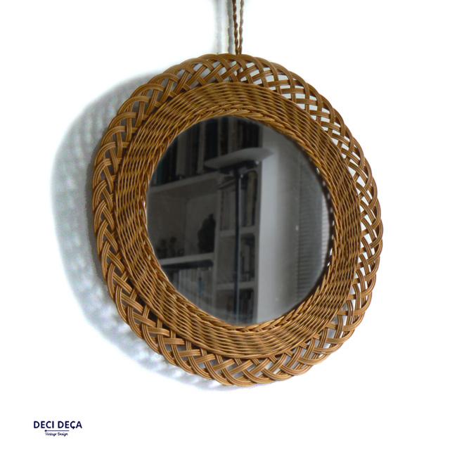 miroir soleil osier de ci de a design meubles et objets du 20 me si cle. Black Bedroom Furniture Sets. Home Design Ideas