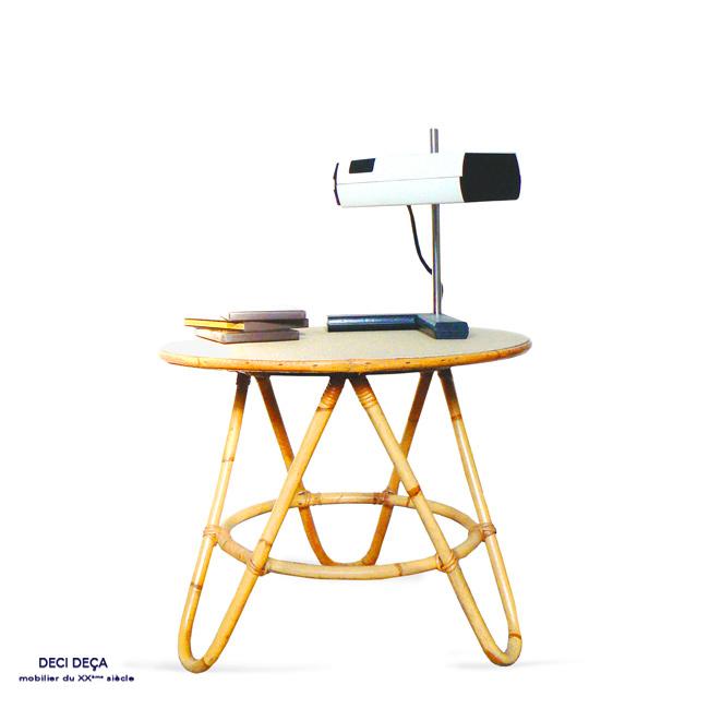 table tripode vintage de ci de a design meubles et objets du 20 me si cle. Black Bedroom Furniture Sets. Home Design Ideas