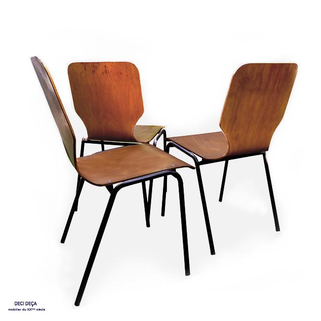 Chaises vintage coque bois de ci de a design meubles - Chaise bois vintage ...